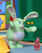 Green pickles the bunny