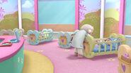 Lambie in her nursery