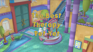 The Best Therapy Pet Yet Title