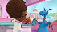 Stuffy gets his hospital scrubs