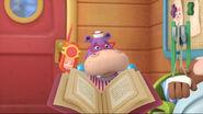 Hallie with a book