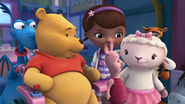 Doc, lambie, stuffy, winnie the pooh and piglet