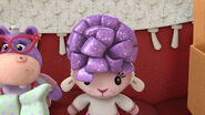 Baby lambie purple bow