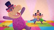 Animated hallie at disco