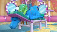 Stuffy gets massaged