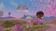 Thousands of butterflies flying above doc and lambie