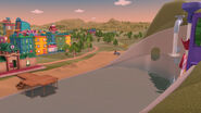Shot of the water park the lake monster