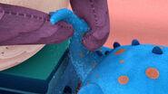 Professor hootsburg squeezes stuffy's tail