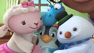 The gang hugging Waddly Penguin