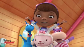 Doc, stuffy, lambie and hallie