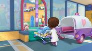 Doc wheels boppy in the hospital