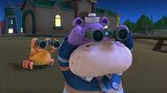 Hallie and hermie looking throught the binoculars