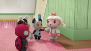 Baby lambie and three baby toys