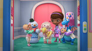 Doc, lambie, stuffy, chilly and dress up daisy with the babies