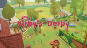 Kirby's Derby Title Card