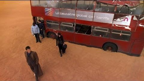 London Bus Transports To Desert - Planet Of The Dead