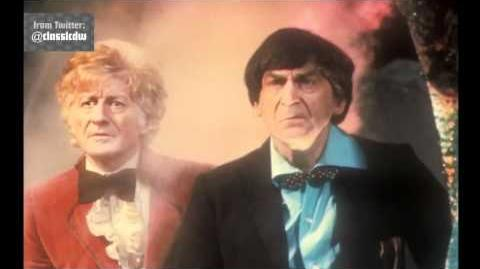 Exclusive First Look Pertwee and Troughton - Doctor Who - The Three Doctors