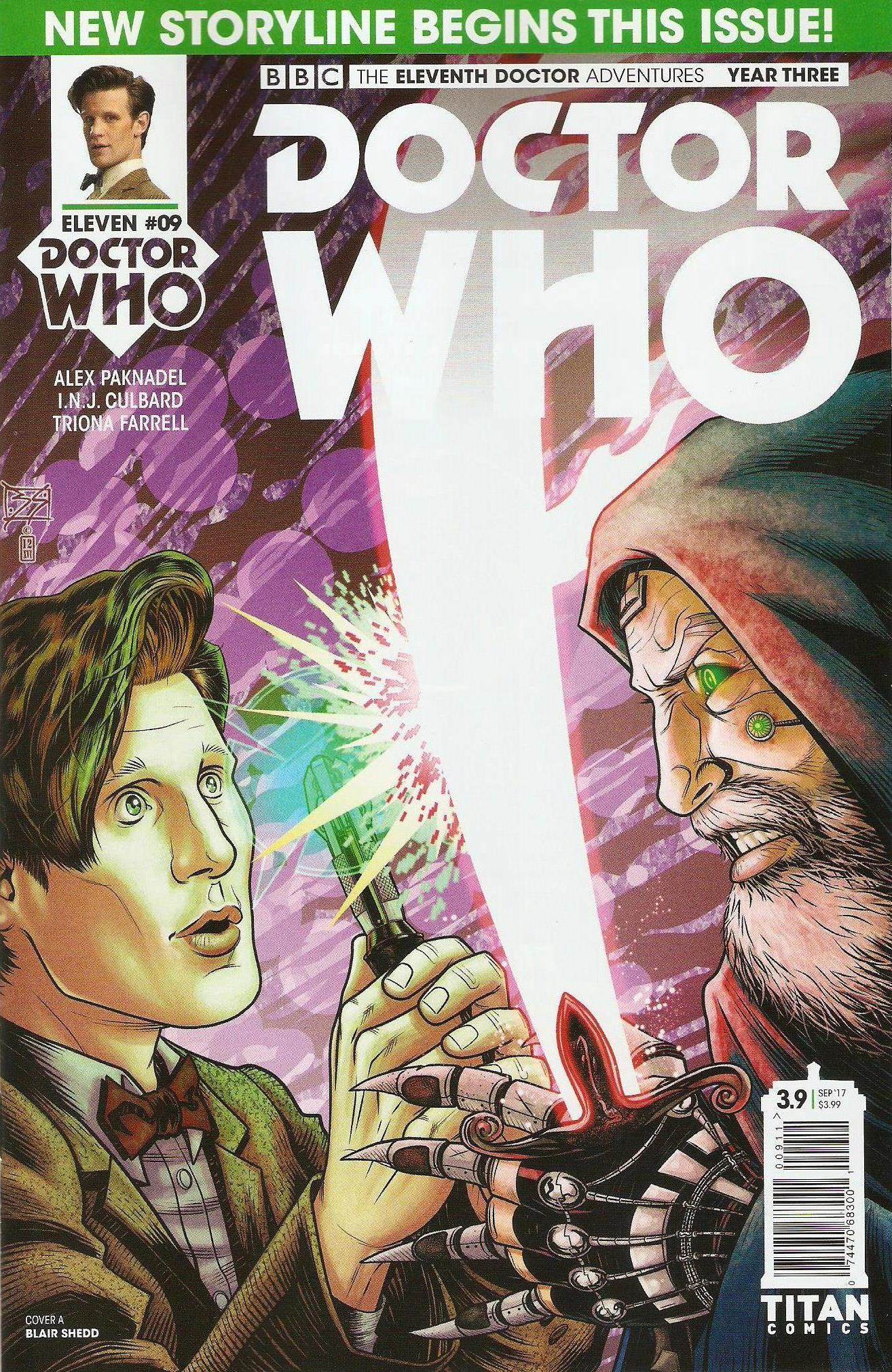 Eleventh doctor year 3 issue 9a