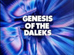 Genesis of the daleks