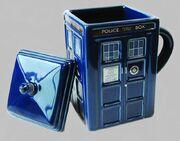 Figural tardis mug with lid B