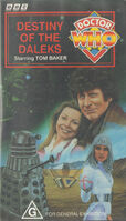 Destiny of the daleks australia vhs
