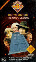 Five doctors kings demons australia vhs