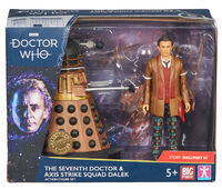 The seventh doctor and axis strike squad dalek