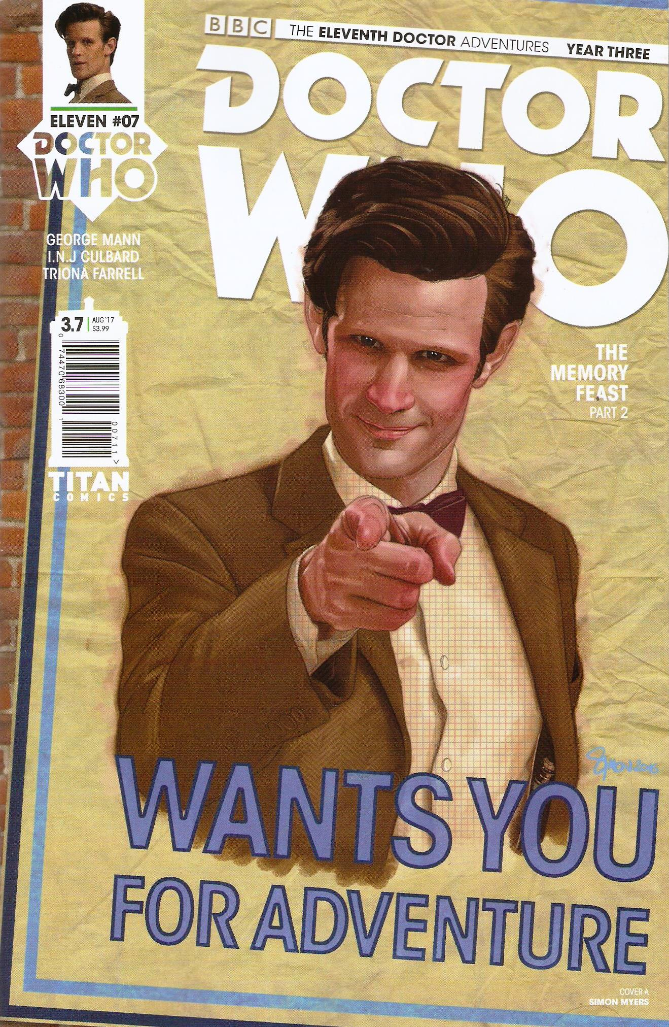 Eleventh doctor year 3 issue 7a