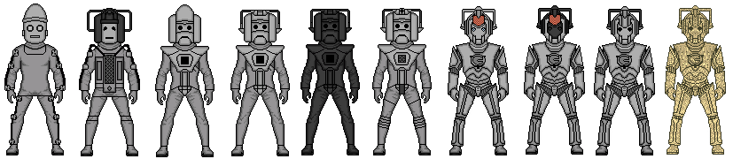 Evolution of the cybermen 2 by stuart1001-d52400g