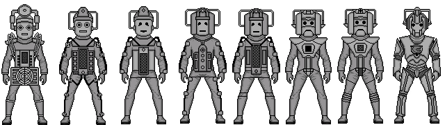 Evolution of the cybermen by stuart1001-d523zu4