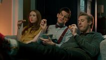 Ponds and doctor eat fish custard