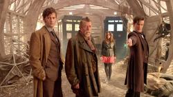 The Day of the Doctor - Los Doctores y Clara ante el botón
