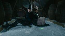 Atados, el Doctor y Bill observan las luces en el hielo - Thin Ice