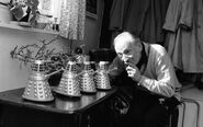 Doctor who william hartnell with marx dalek toys