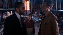 The Caretaker - Danny en la TARDIS con Clara y el Doctor