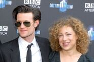 Matt Smith and Alex Kingston