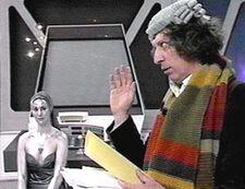 El Doctor en una nave del hiperespacio
