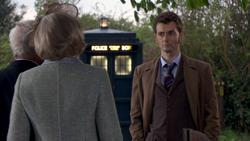 TEOT - El Doctor habla con Wilf y Sylvia en la boda