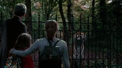 El Doctor, Clara y Maebh frente al tigre - In the Forest of the Night