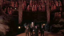 The Christmas Invasion - Harriet y demás en la nave