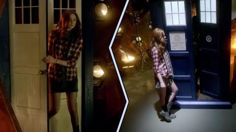 Time- Side-By-Side of the TARDIS Interior and Exterior
