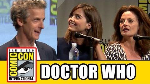 Doctor Who Comic Con Panel - Series 9, Peter Capaldi, Jenna Coleman, Michelle Gomez, Steven Moffat