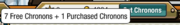 Player menu-chronons