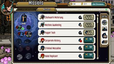 TARDIS menu-Missions