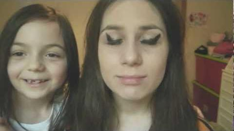 Hedy does my make-up!