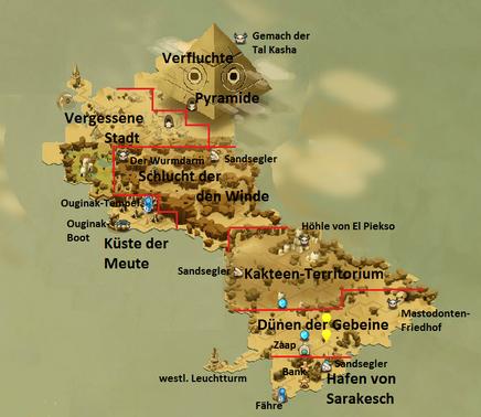 Saharach Karte