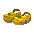 Yellow Piwi Sandals
