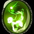 Large Crackling Green Fairywork