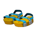 Blue Piwi Sandals