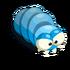 Unreife blaue Larve